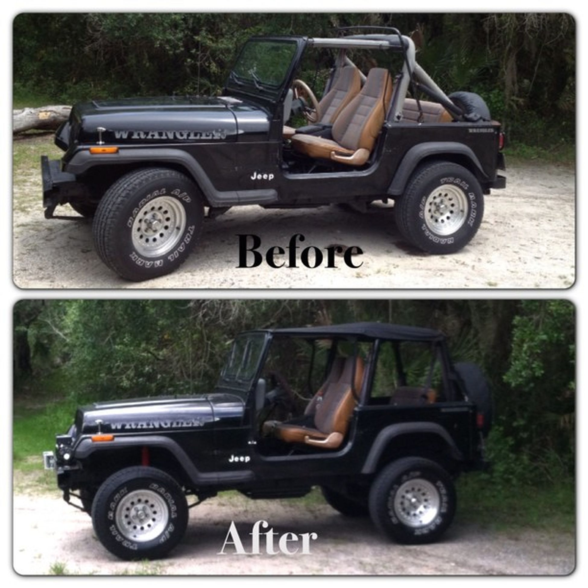 Liftkit on!! Before After Jeep jeeplife yj