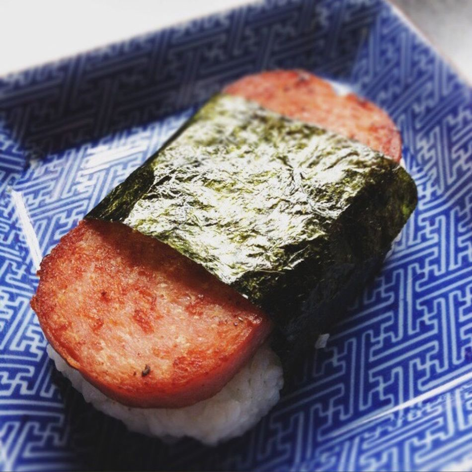 Food And Drink Food Healthy Eating Freshness No People Close-up Day Vertical Ready-to-eat Outdoors Spam Omusubi