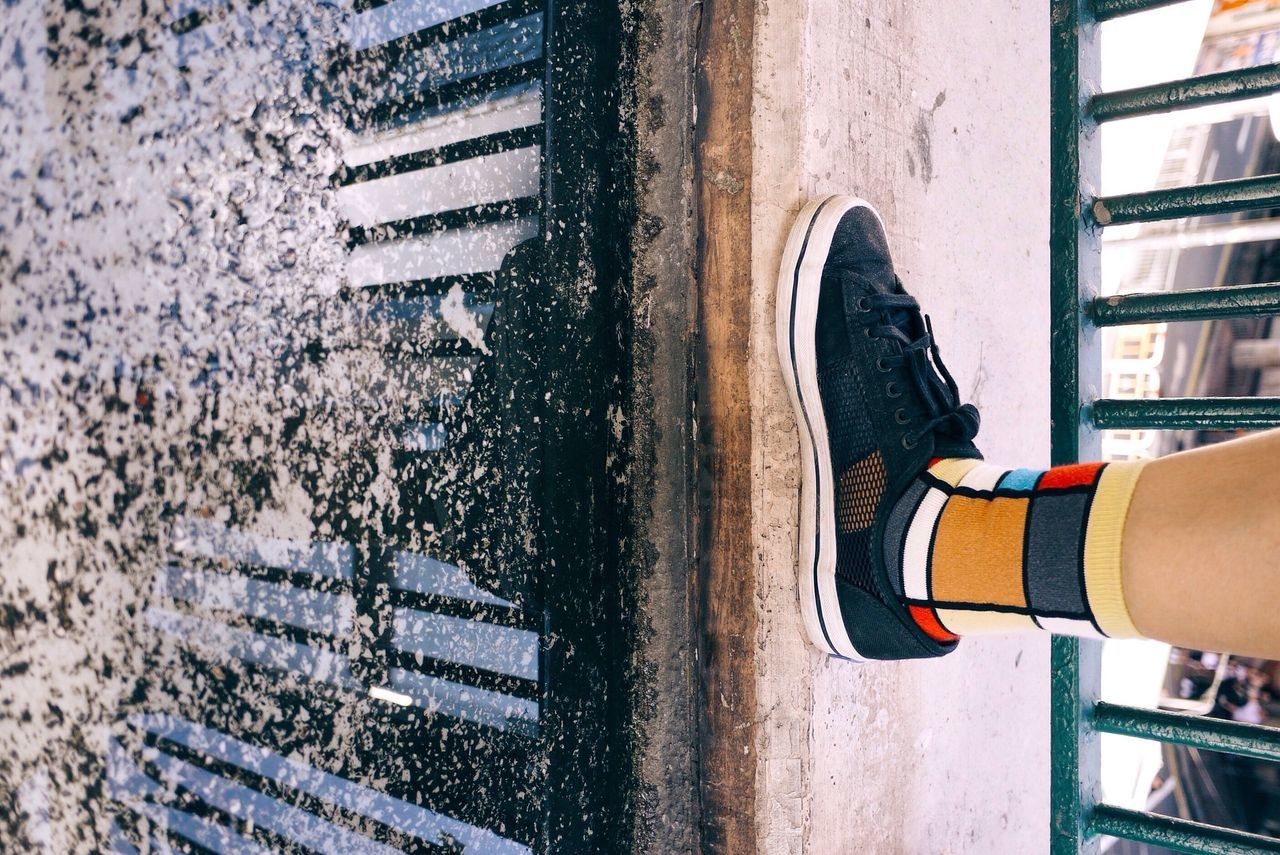 Shadow Water Reflections Colorful Socks Equilibrium Minimal Causeway Bay
