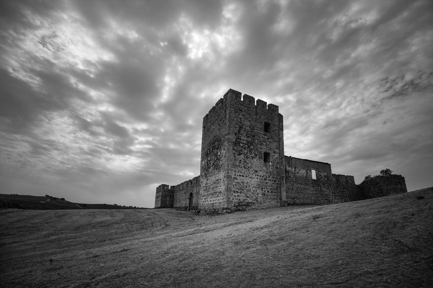 Ancient Ancient Civilization Architecture Blackandwhite Building Exterior Built Structure Castel Castle Cloud - Sky Contrast Day History Low Angle View Nature No People Old Ruin Outdoors Sky The Past Travel Destinations