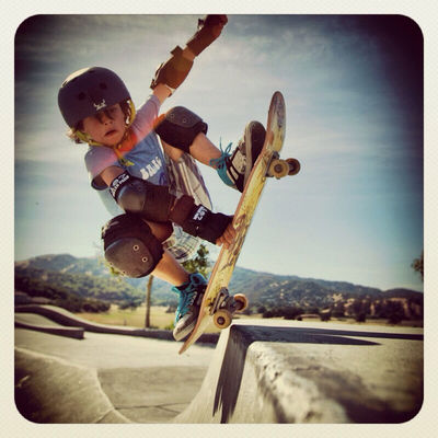 shredding at mcginnis Skatepark by sepiatone