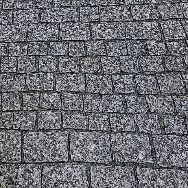 Black And White Cobblestone Pavement Pattern, Texture, Shape And Form Stone Street