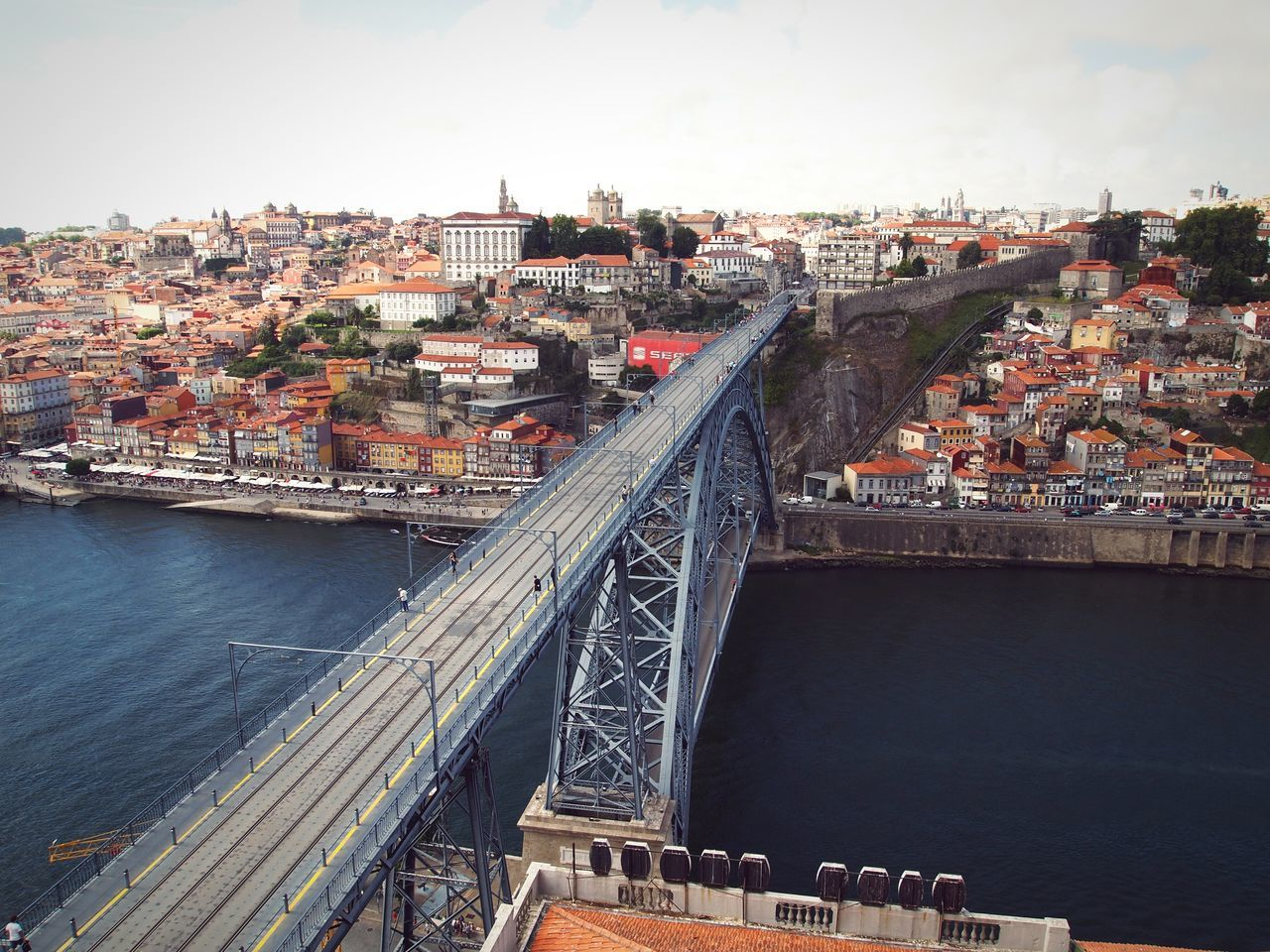 Douro view City Bridge - Man Made Structure Architecture Outdoors Built Structure Cityscape Cloud - Sky Building Exterior Travel Destinations Travel River Urban Skyline Porto Portugal Douro  Water Banks EyeEm Best Shots EyeEm Gallery Eye4photography