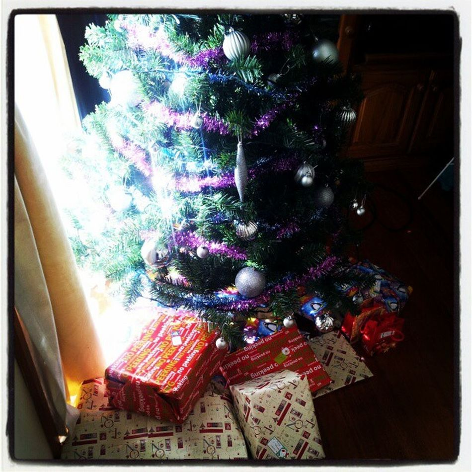 Countdown is on and pressie are being wrapped and placed under the tree.. Christmas Pressies Wrapping Fairylights Sparkling Countdown