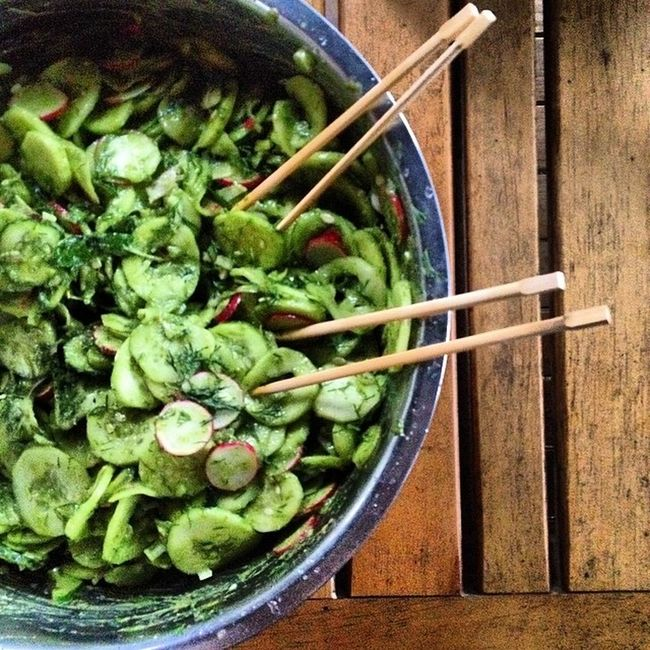 Bigisbeautiful messy spring salad Rawvegan