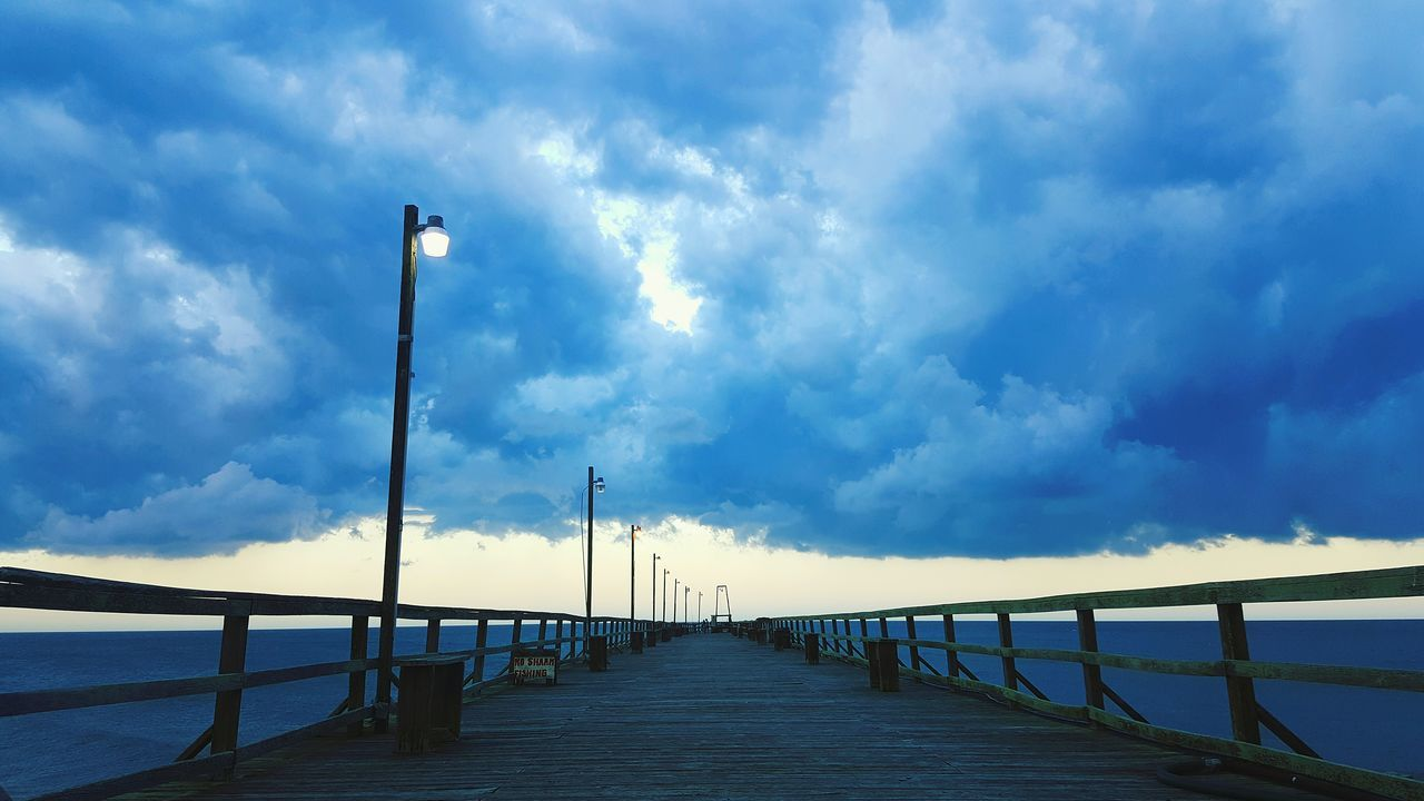 Pier Storm Cloud Ocean The Way Forward Cloudy Cloud - Sky Sunset Lifes Journeys Life Is Beautiful Scenics