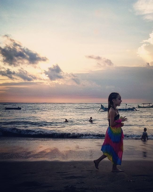 Girl Power Beach Bali, Indonesia Bali Beach Sunet
