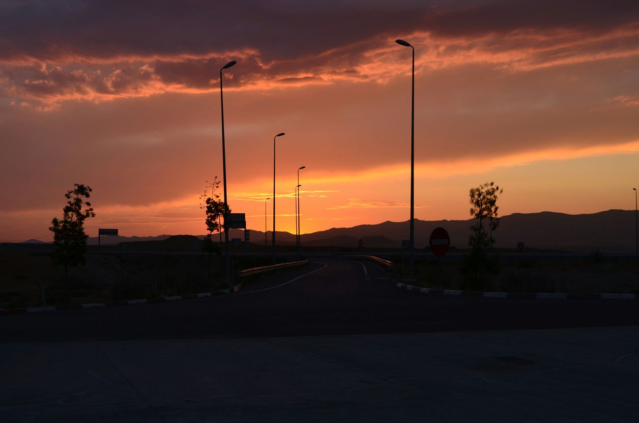 Morocco Amazing Sunset سبحانك ربي The Purist (no Edit, No Filter) Nature Colors Trip Car Travel