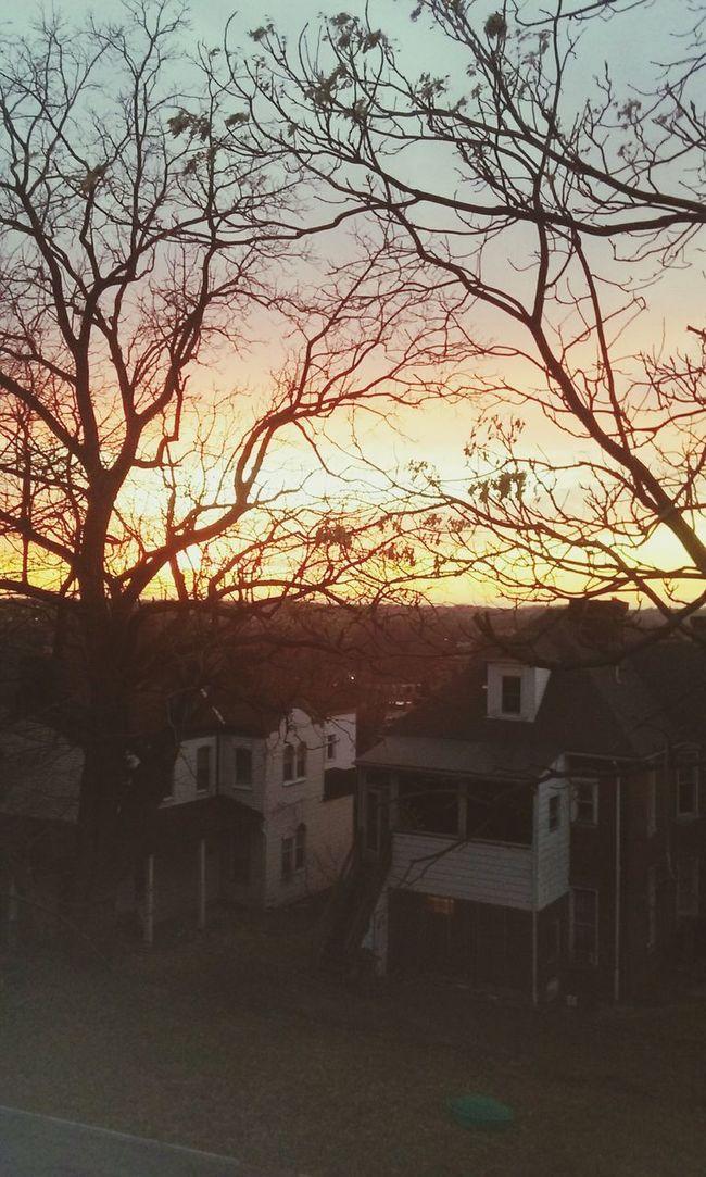 Sunset from my kitchen window 🌞🌻🌞⛅ First Eyeem Photo