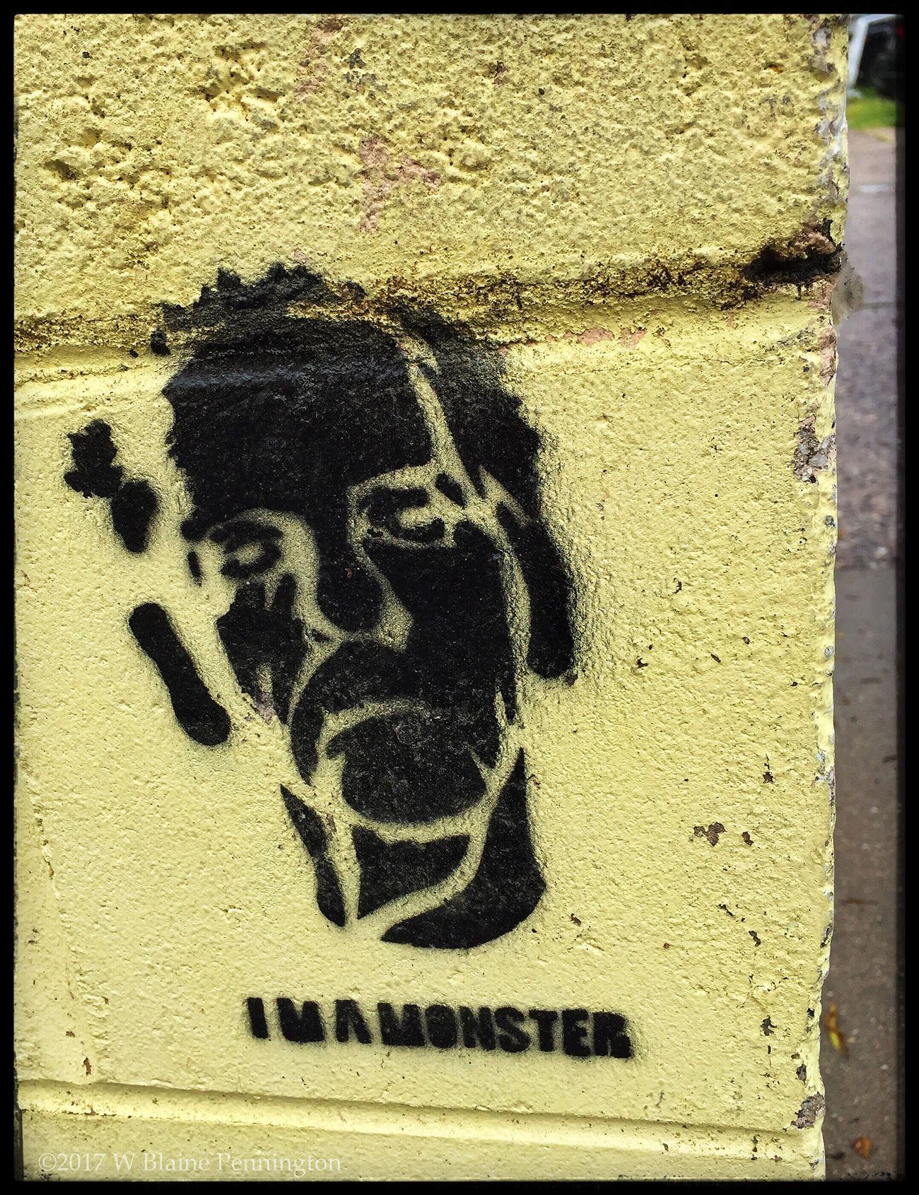 Stencil, beach town wall Stencil Stencil Art Graffiti