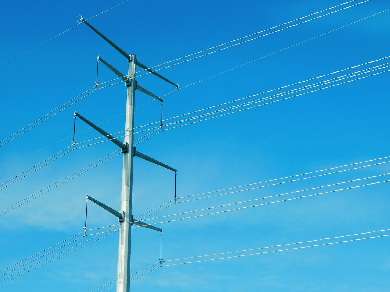 Technology Blue No People Clear Sky Sky Electricity  Low Angle View Renewable Energy Alternative Energy Day Nature Outdoors