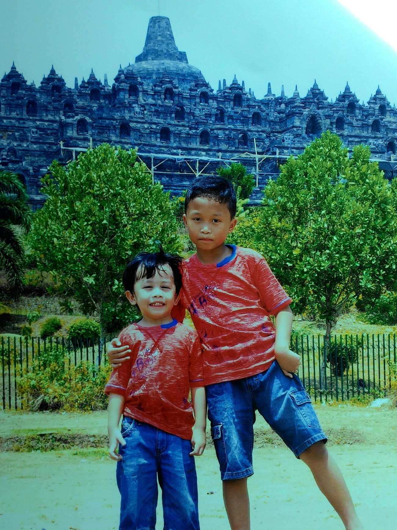 Hi! Hello World Relaxing Enjoying Life My Kids Borobudur Temple, Indonesia Central Java, Indonesia. 7 Wonder In The World Beautiful Place Visit Indonesia