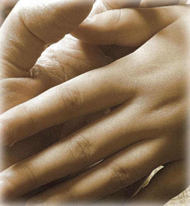 Hand in hand Close To Love Close-up Grainy Lines On Hands Not Much To Say...