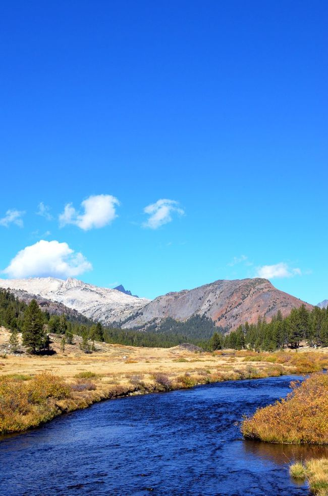Beauty In Nature California Clear Sky Over Mountains Copy Space Countryside Flowing Water Inyo National Forest Mountain Mountain Range Non-urban Scene Outdoors Physical Geography Remote Sierra Nevada Mountains Solitude Tranquil Scene Tranquility Tuolumne River