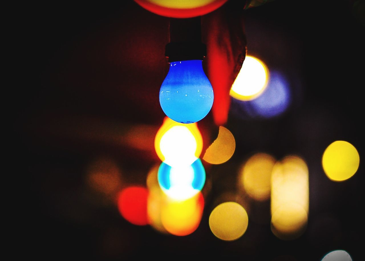 Close-up Multi Colored Illuminated No People Night Nightlife Neon Lights Light And Shadow Light Lights Red Blue From My Point Of View Point Of View Shootermag Mobilemag Olympus OM-D E-M5 Mk.II Olympus Arts Culture And Entertainment Berlin Myfuckingberlin Selective Focus Bokeh Bokeh Photography Bokeh Lights