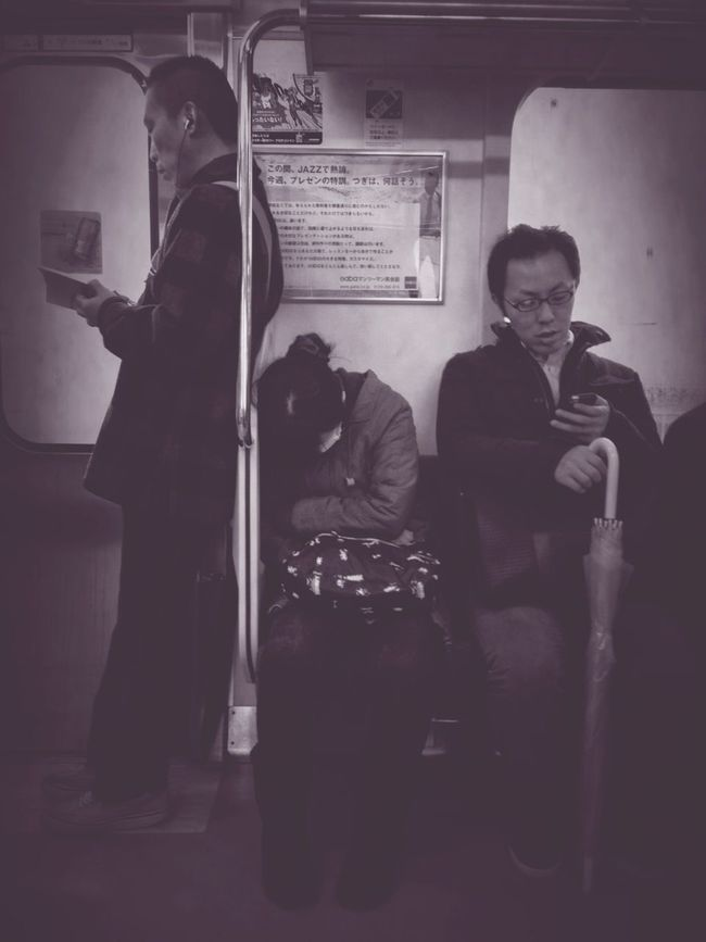 People Watching Commuting Monochrome Commuter Style