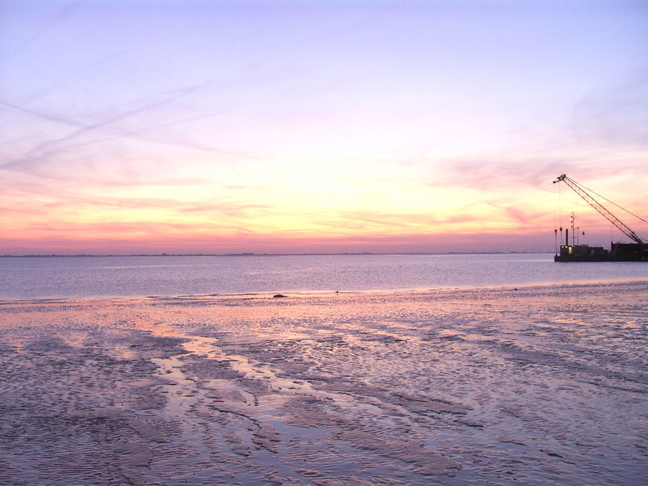 Sunset Sea Sky Silhouette Water Cloud - Sky Scenics Tranquility Dusk Landscape Nature Reflection Beauty In Nature Horizon Over Water No People Outdoors Business Finance And Industry Beach Pastel Colored Multi Colored Rysumer Nacken Eastfrisia