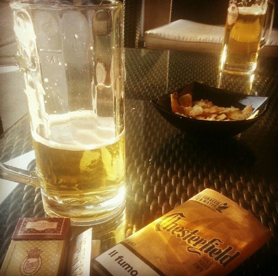 Beer With Mybrother Brotherhood Cigarettes Tobacco Chesterfield Bar Aicolli überalles First Eyeem Photo