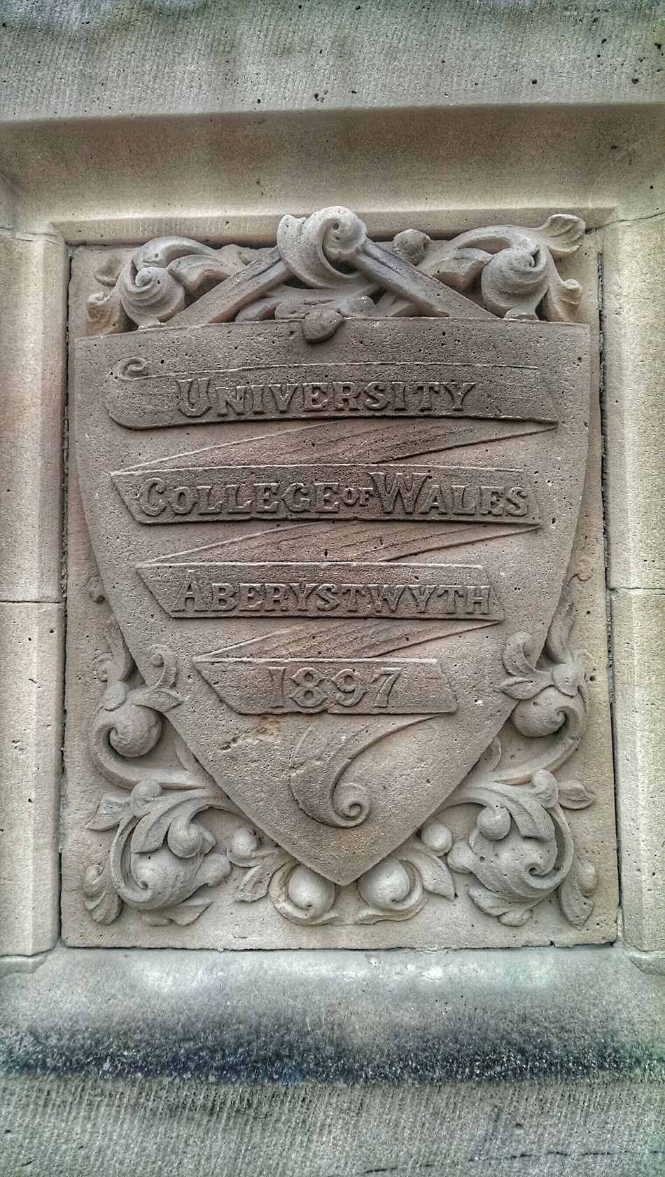 Carved Sandstone Empty Places Education Old Buildings Oldschool Aberystwyth Wales