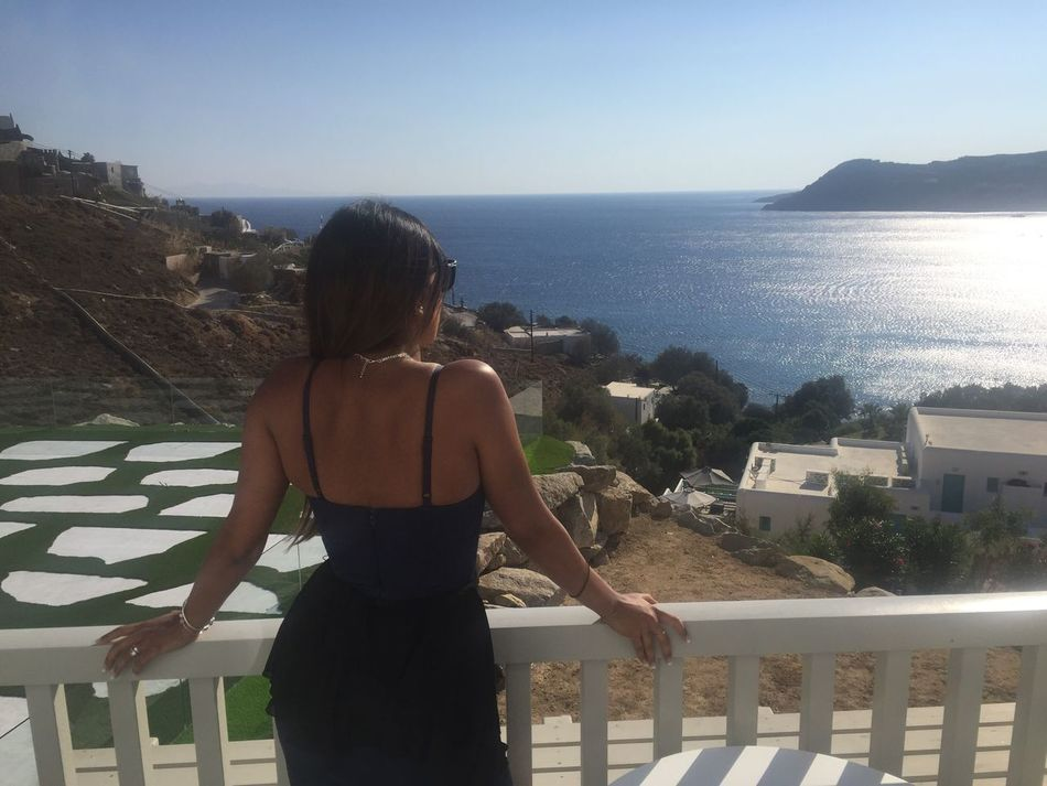 My Year My View Mykonos Sea Lifestyles Looking At View Clear Sky Horizon Over Water Nature Scenics