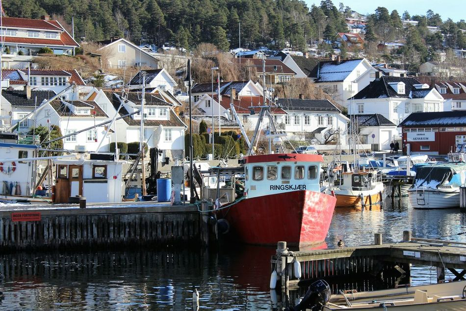Drøbak Norway Boats Architecture Built Structure Scenics Houses Pier Harbor View Travel Destinations Outdoors Sea_collection Oslofjord No People Building Exterior Day Clear Sky Sunlight View Scenery_collection Scenic Landscapes Scenery Shots