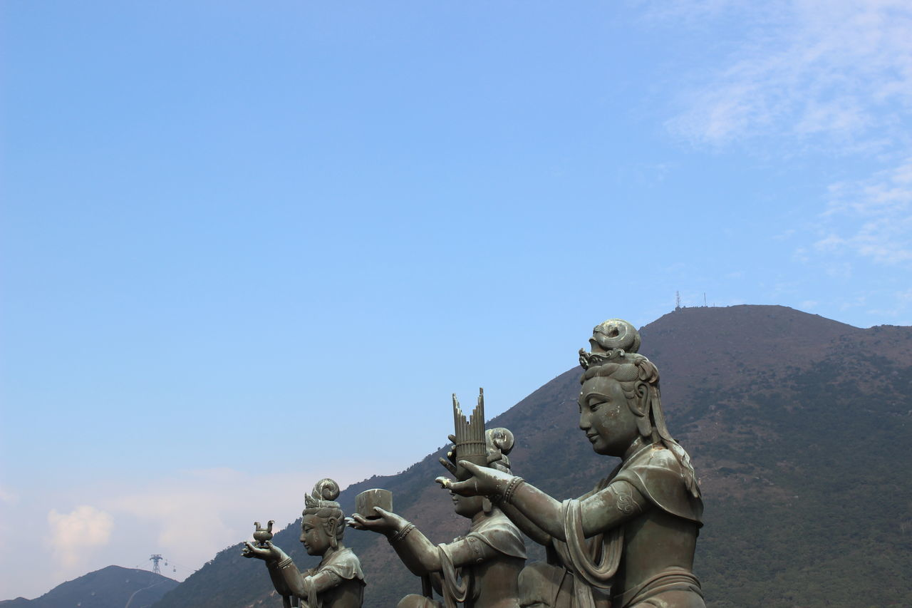 Statue Sculpture Outdoors Day Beauty In Nature Young Women Tian Tan Buddha (Giant Buddha) 天壇大佛 HongKong Travel Photography Mountain Travel Destinations No People Cloud - Sky Statue