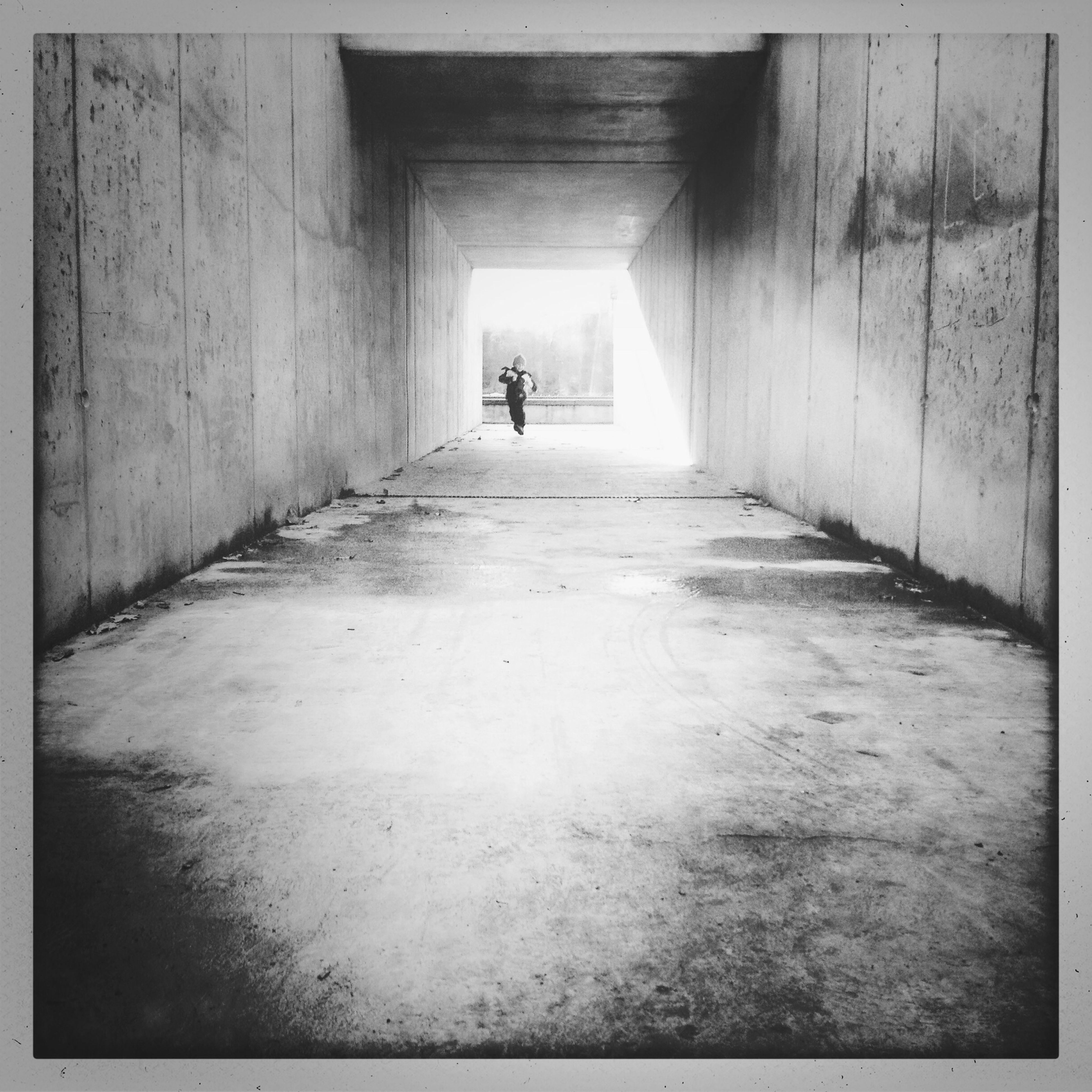Running through the tunnel