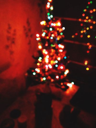 New Year Christmas Light Room