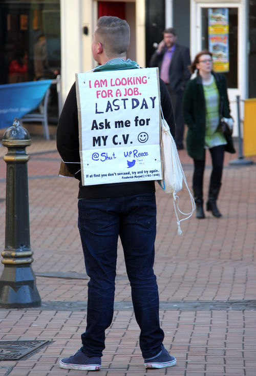 """""""Job Hunting"""" Adult Adults Only Birmingham City Cv Day Full Length Help Job Job Hunting Jobless Last Day Men One Man Only Optimistic People Redundant Searching Social Issues Street Streetphotography Uk Unemployment West Midlands Young Men"""