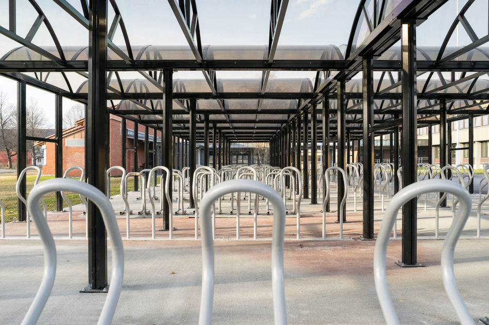 no bikes Architecture Architecture Bike Racks Day Lines Lines And Shapes Lines, Shapes And Curves Metal Modern No People The Secret Spaces