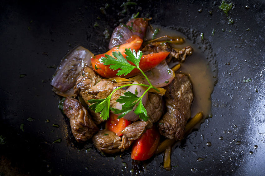 Comida Peruana Lomo Saltado Food And Drink Lomo Saltado Peruvian Food Food Fusion Food Peruvian Culture Ready-to-eat Traditional Food