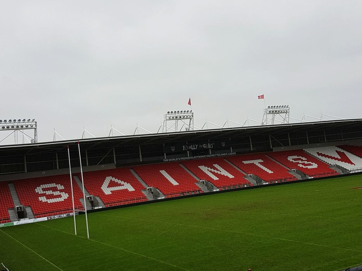 Sport Stadium Playing Field Outdoors No People Rugby St Helens R.F.C Saints RL Rugby Stadium Rugby League Saint Helens Totally Wicked Saints Saints Ground Rugby Pitch