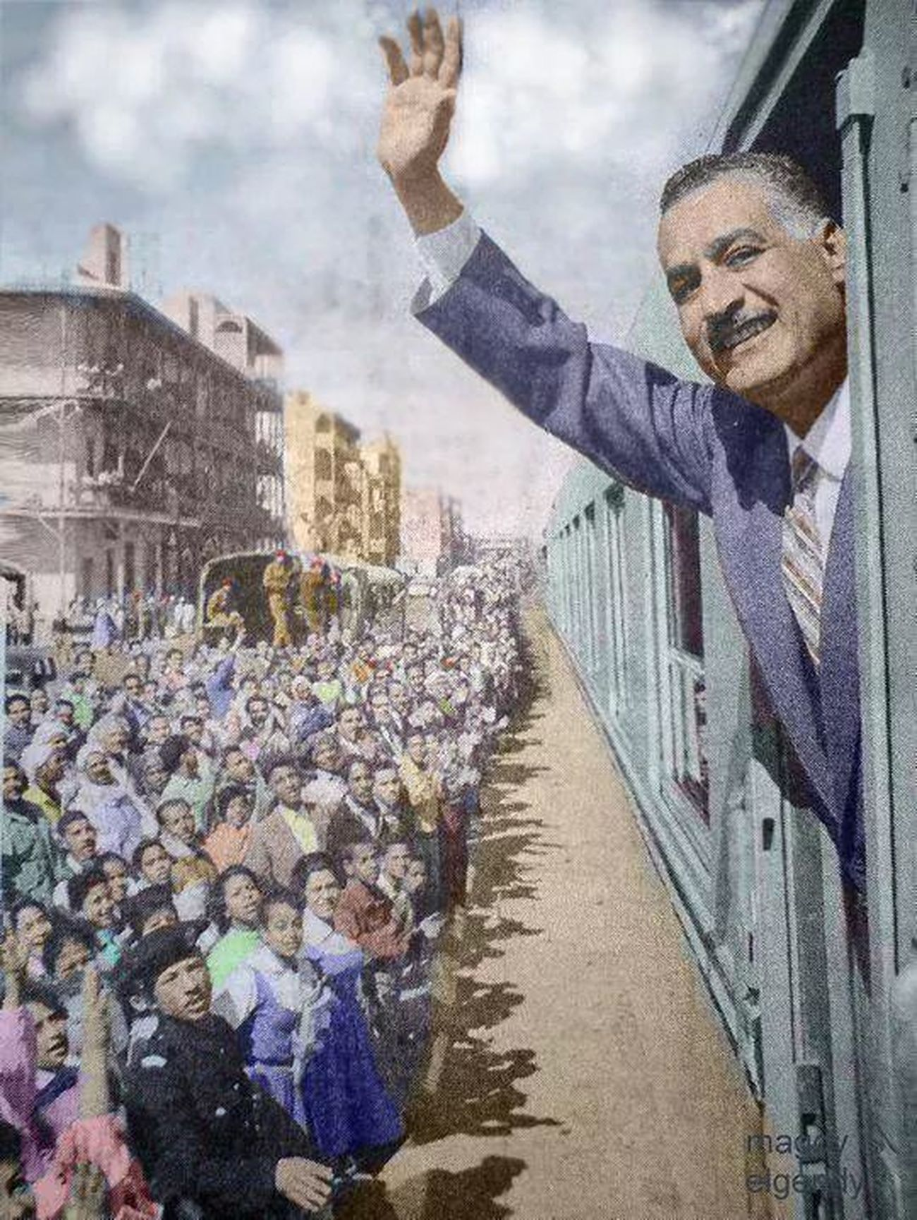 In CairoPictures of the late President Gamal Abdel Nasser, President of the Arab Republic of Egypt