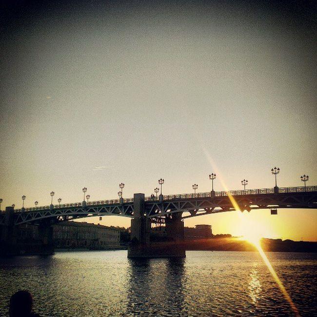 Bridge Sunset Steel Structure  Toulouse France