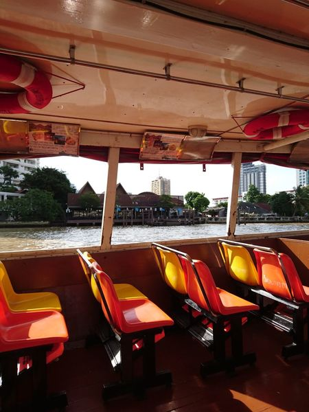 Free boat tour & transfer Asiatique The Riverfront Boat Day Mood No People Outdoors Seat Seats Transportation Water
