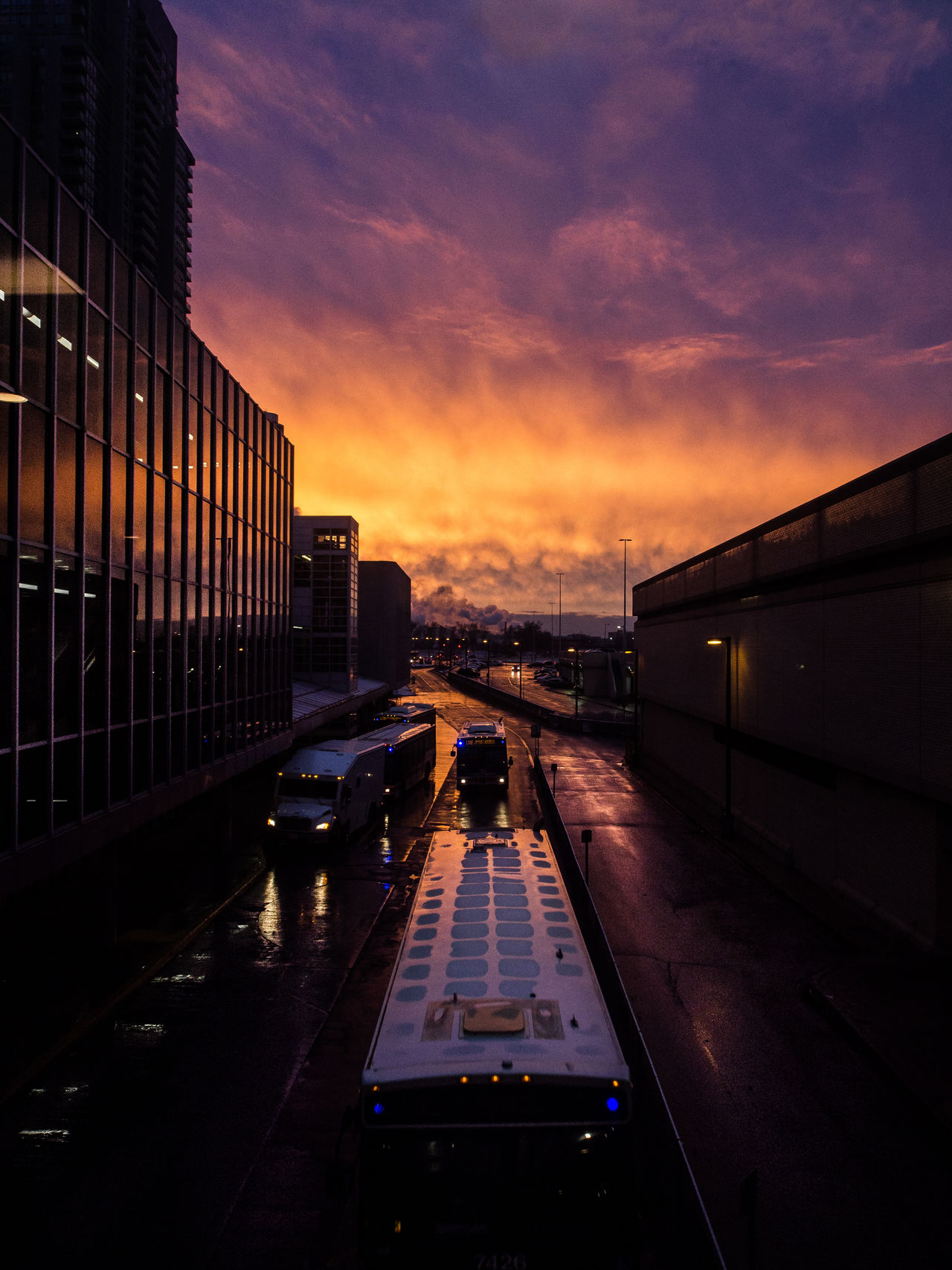 Architecture Car Cloud - Sky Day Mode Of Transport No People Outdoors Reflection Sky Sunset Transportation Travel