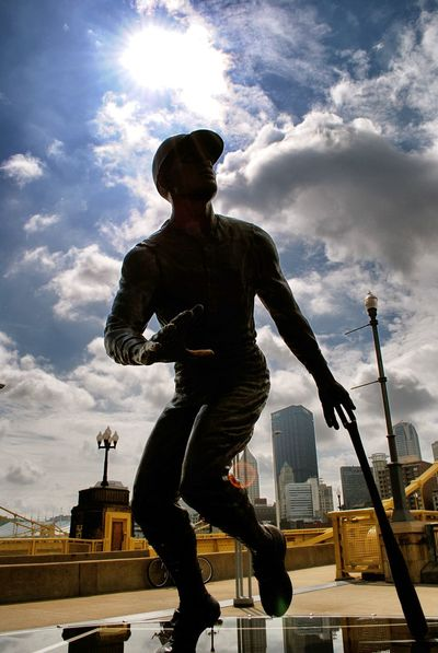 Baseball City Cloud - Sky Clouds Clouds And Sky Day Monument Roberto Clemente Sky Statue