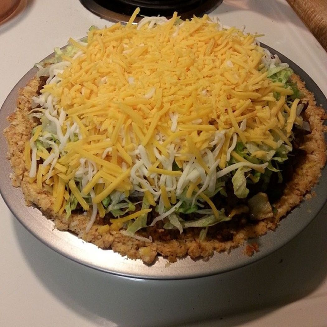 My Bestroommate ever made Tacopie tonight! It's messy, but oh so good! She's amazin'! Food