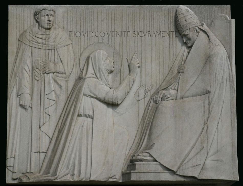 Saint Catherine of Siena, relief in Rome Art Catherine Catherine Of Siena Christianity Faith Historic Religion Rome Saint Siena