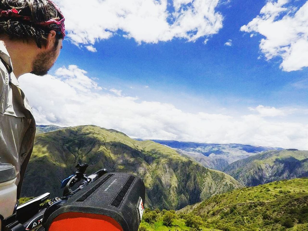 Chris overlooking a beautiful vista in Peru : Sky Mountain Mountain Range Landscape Cloud - Sky Travel Destinations Adventure Outdoors Beauty In Nature Scenics Peru Travel Photography Travel The World EyeEmNewHere Latin America Bikesaroundtheworld Biketrip Biketouring Journey Camping Travel Vista Landscape_Collection Landscape_photography Natural Beauty EyeEmNewHere