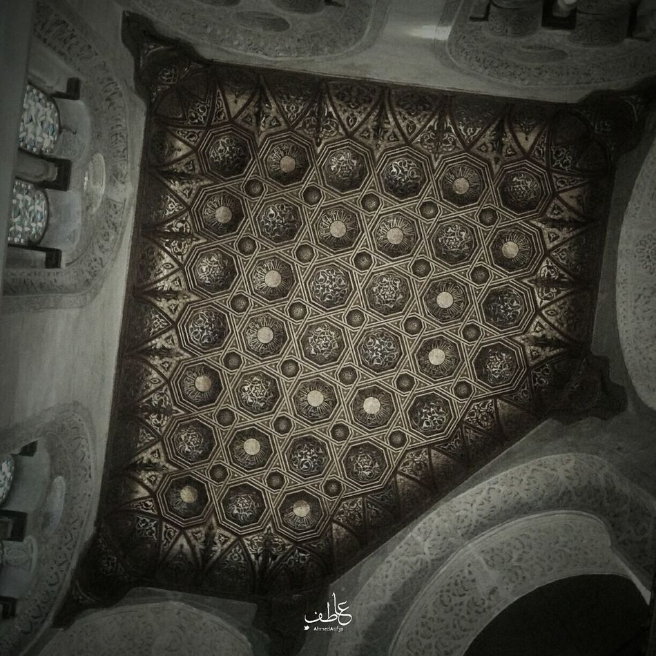 The magic of architecture as it looks like a great carpet on the celling catching up your sight as it capturing you in a new world filled of colors to refresh your eyes Architecture Photographer Cinematography Architecture_bw Islamic Architecture Scluptures Egypt Cairo Cairo Egypt Mumluk Oldcairo Historical Monuments Black&white Historical Building Tourist Tourism Tourists History Photography Black & White Egypt Tour Thisisegypt B&w Street Photography