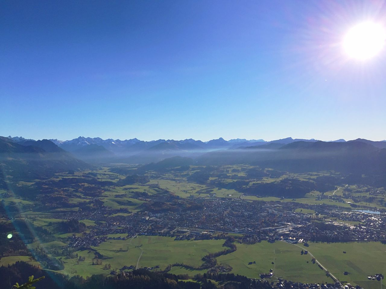 Aussicht auf Sonthofen Allgäu The Alps