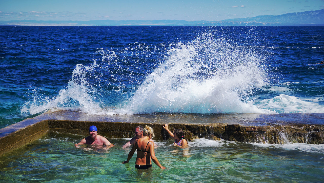 Challanging the power of Nature Day Motion Outdoors People Power In Nature Power Of The Sea Sea Splashing Water Wave