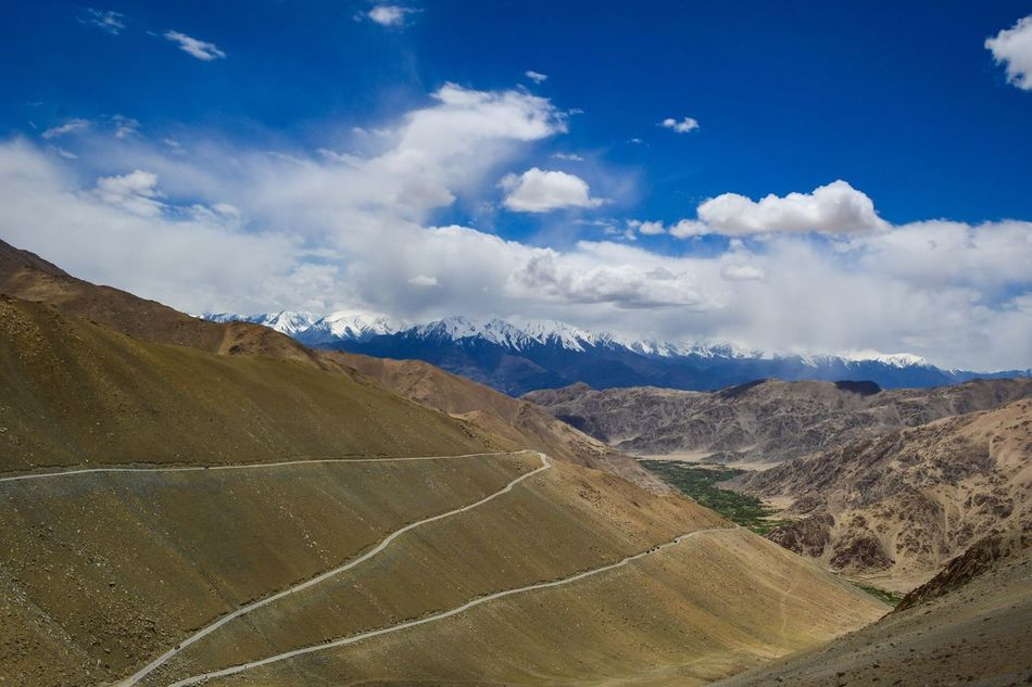We need to climb heights to achieve something wonderful. Ladakh, India. Mountain Scenics Nature Beauty In Nature Landscape Tranquility Tranquil Scene Cloud - Sky Sky Mountain Range Blue Non-urban Scene Day Outdoors No People Mountain Road