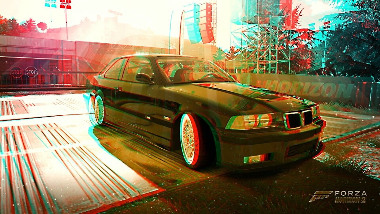 3d picture from the Bmw e36 m3 forza horizon 2 Games Bmw 3D Picture On The Road