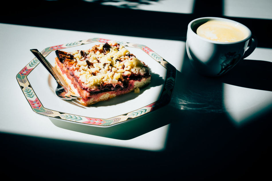 Break Time Cake And Coffee Cake Time Coffee Coffee - Drink Coffee And Sweets Coffee Cup Coffee Time Cup Food Freshness German Cake No People On A Table By Window Plate Sun And Shade Sweets Time In Hasami-NAGASAKI Table Yum Yum