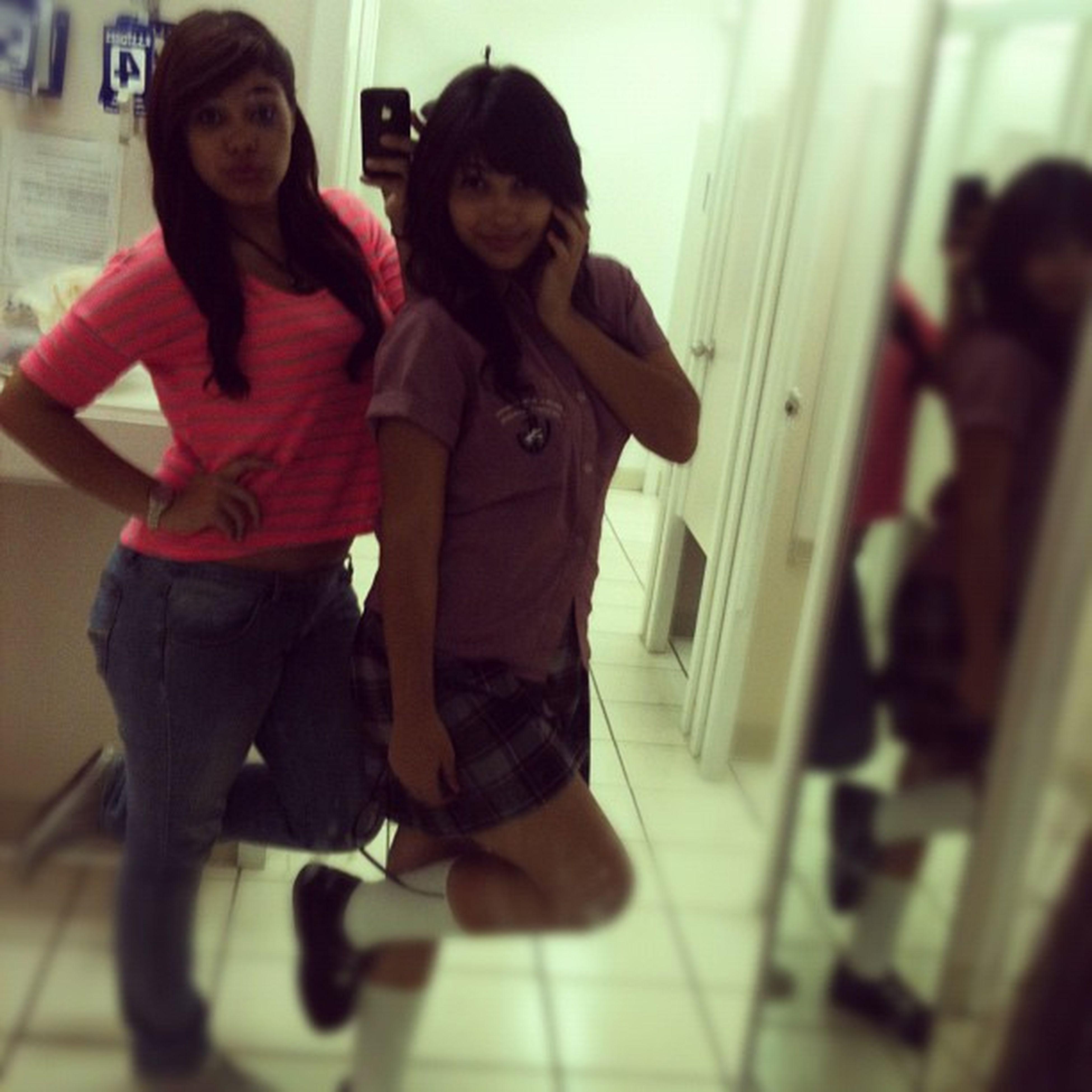 con @danielasuhey21 ✌ Follow Cute Us Sisyers shopping fittingroom friday
