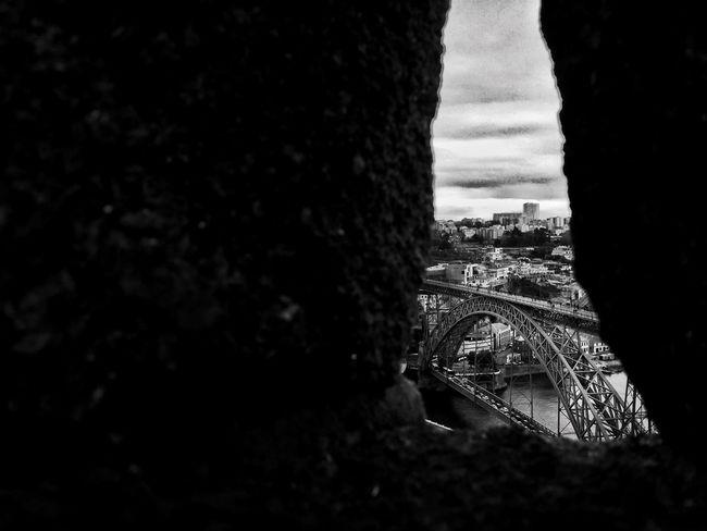 JohnnyGarcía Portugal_em_fotos Portugal Bridge Urban Blackandwhite Photography Blackandwhite Black And White Porto Monuments