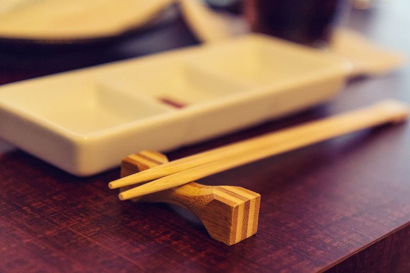 Wood - Material Indoors  Table No People Close-up Food Day Chopsticks Hashi Japanese  Chinese Korean Asian  Foods Eat Serving Size Serving Dish