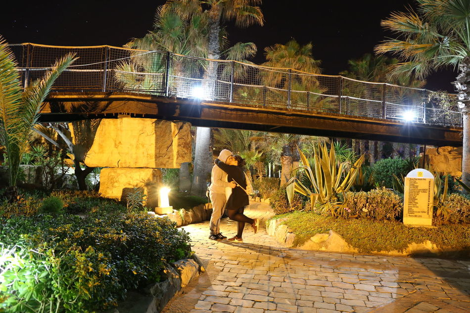 Architecture Best Couple❤ Bridge Bridge - Man Made Structure Building Exterior Built Structure Full Length Hammamet Jasmine Hammamet Sud Illuminated Jasmine Flower Lifestyles Men Nature Night One Person Outdoors People Plant Real People Tree Tui Magic Life Women